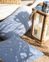 Granatowa poduszka ogrodowa Lizbona 50x30