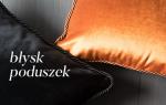 Połyskliwe poduszki w nowoczesnym salonie