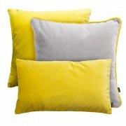 Szaro-żółty zestaw poduszek dekoracyjnych Duo