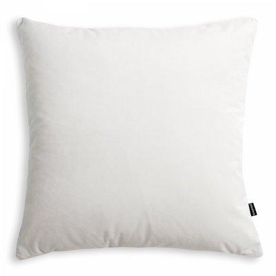 Velvet biała poduszka dekoracyjna 45x45