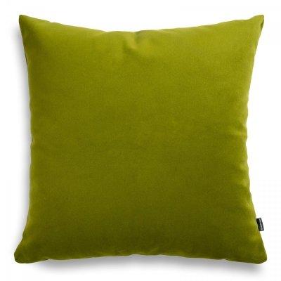 Pram zielona welurowa poduszka dekoracyjna 45x45 cm