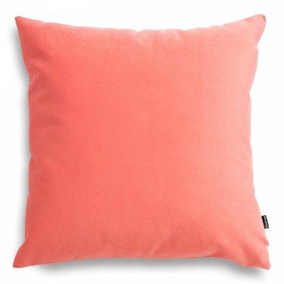 Pram Koralowa welurowa poduszka dekoracyjna 45x45 cm