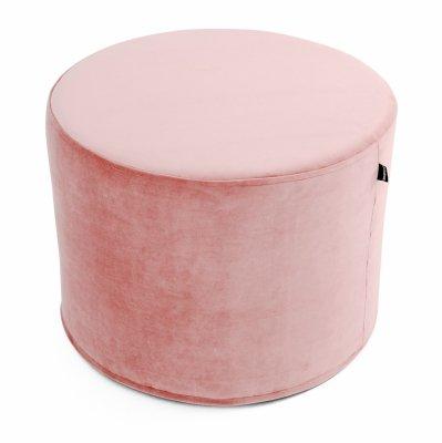 Różowa pufa welurowa 45x35