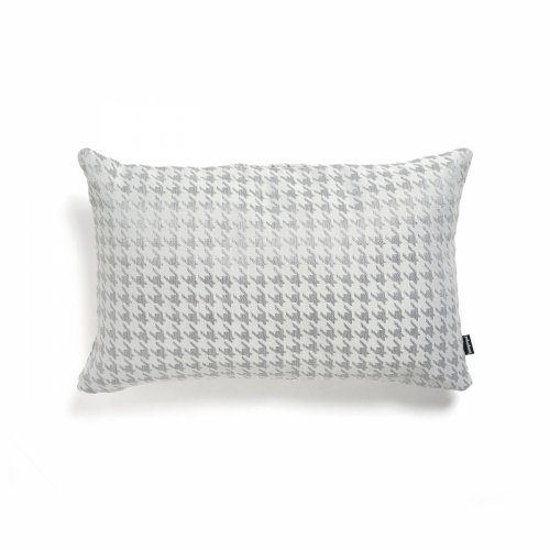 Srebrna poduszka w pepitkę