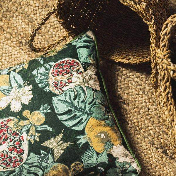 Poduszka dekoracyjna Grenada zielona 45x45