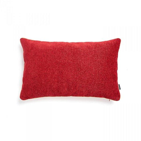 Alaska czerwona błyszcząca poduszka dekoracyjna 50x30