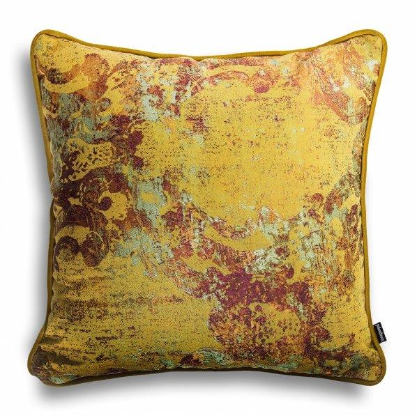 Złoto bordowa poduszka dekoracyjna Gold 40x40