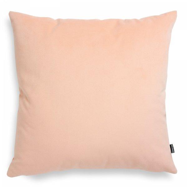Pram jasno różowa welurowa poduszka dekoracyjna 45x45 cm