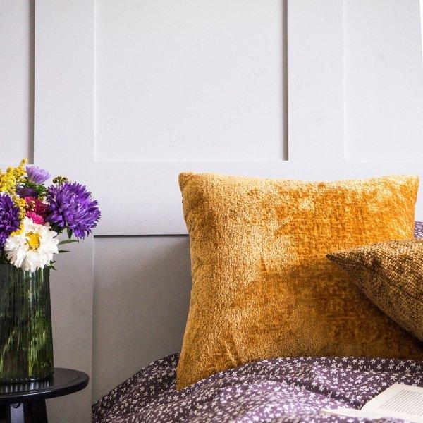 Bergen żółta poduszka dekoracyjna 50x50