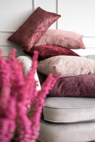 Bergen duża różowa poduszka dekoracyjna 50x50