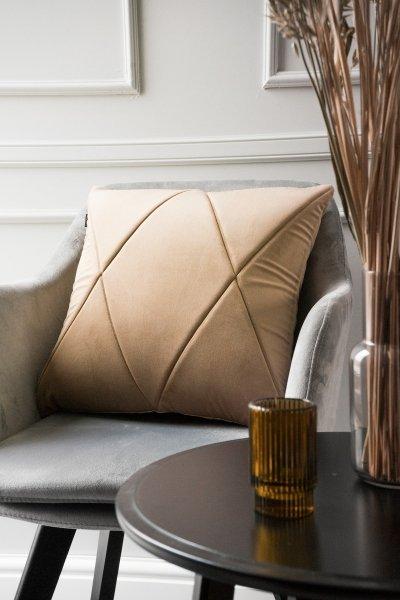 Touch poduszka dekoracyjna beżowa 45x45 MOODI