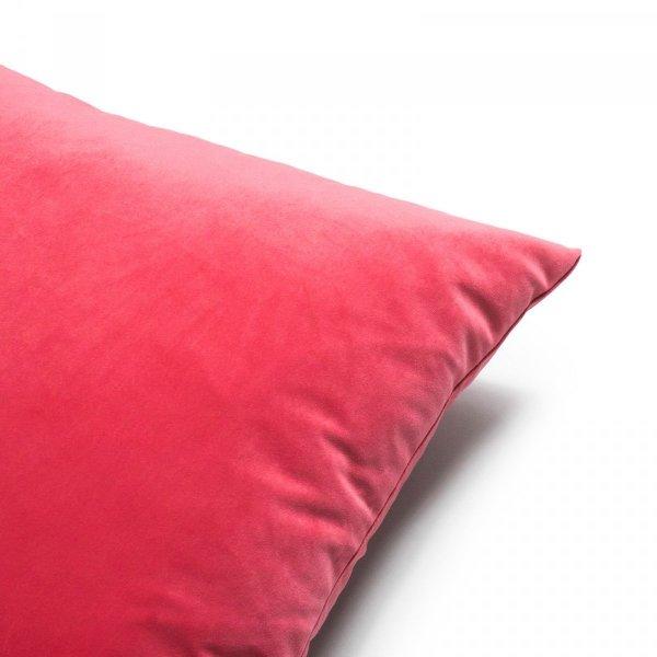 Velvet koralowa poduszka dekoracyjna 45x45