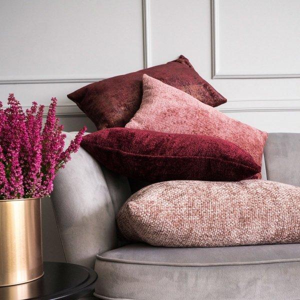 Bergen różowa poduszka dekoracyjna 50x30