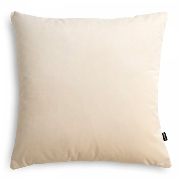 Velvet kremowa poduszka dekoracyjna 45x45