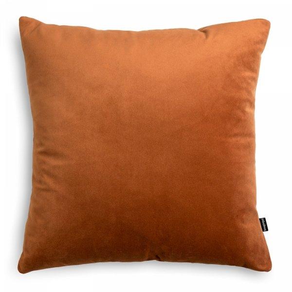 Velvet ruda poduszka dekoracyjna 45x45