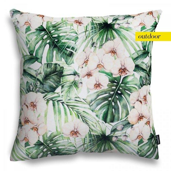 Zielony zestaw poduszek ogrodowych Orchidea