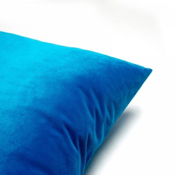 Velvet turkusowa poduszka dekoracyjna 50x30