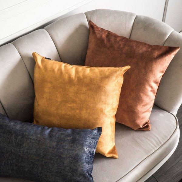 Glossy brązowa poduszka dekoracyjna 45x45