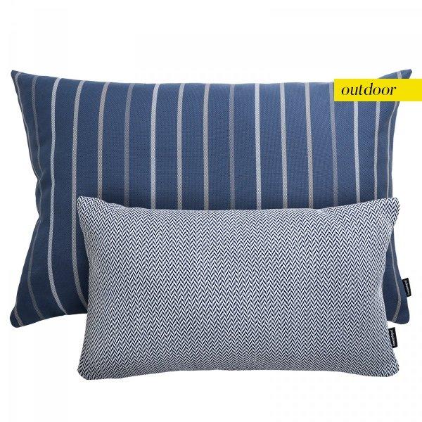 Zestaw poduszek ogrodowych niebieskie paski