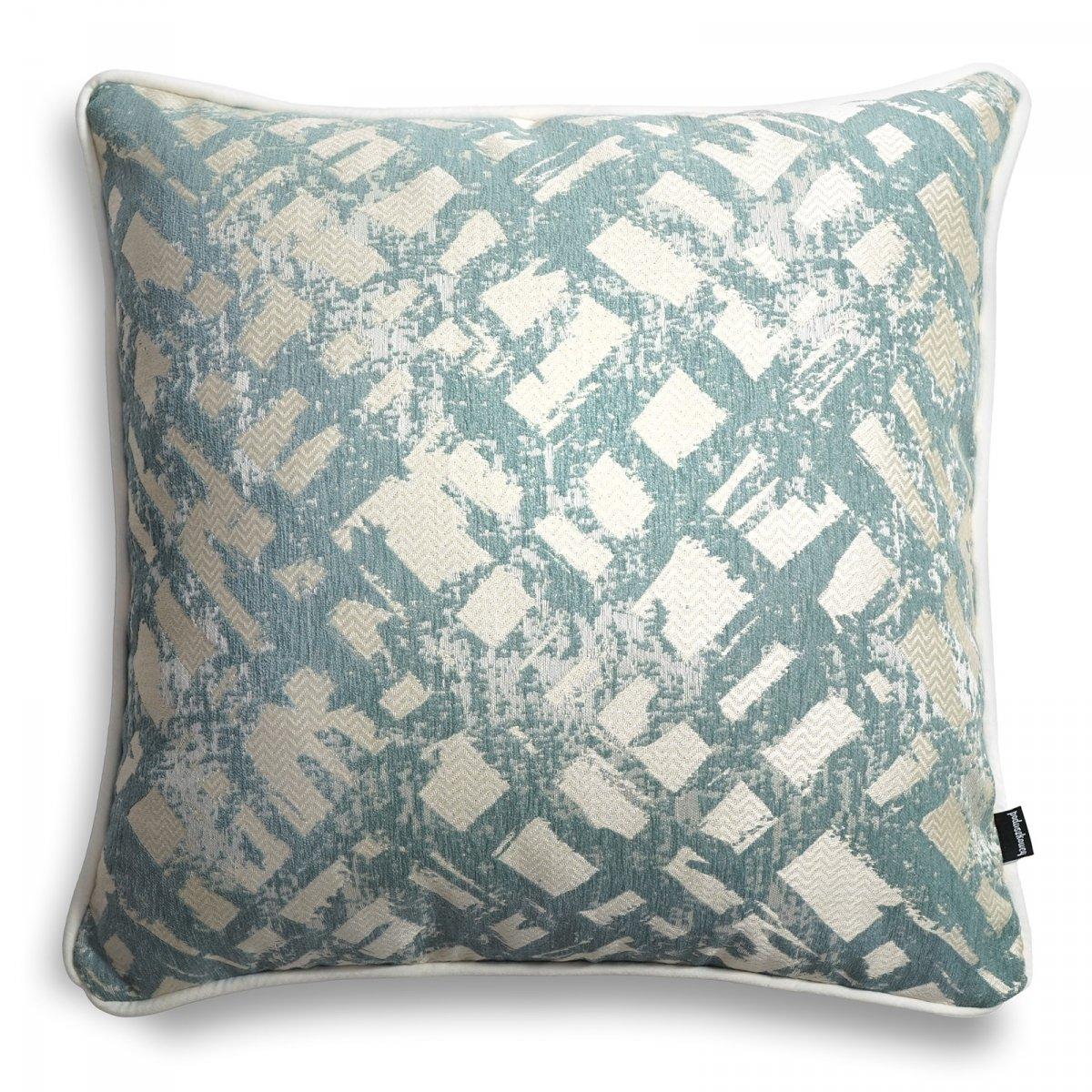 Miętowa poduszka dekoracyjna Glow 45x45