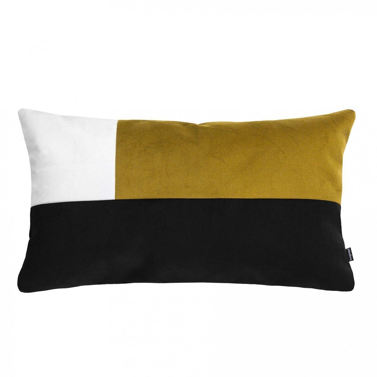 Pram M miodowa welurowa poduszka dekoracyjna 30x50 cm