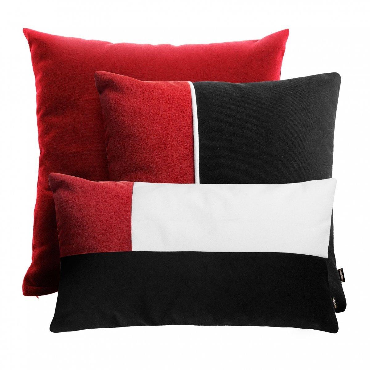 Czerwony zestaw poduszek dekoracyjnych Pram