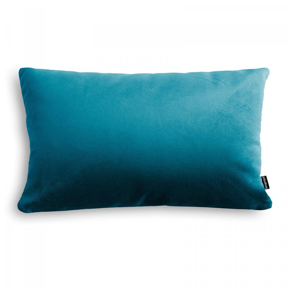 Velvet niebieska poduszka dekoracyjna 50x30