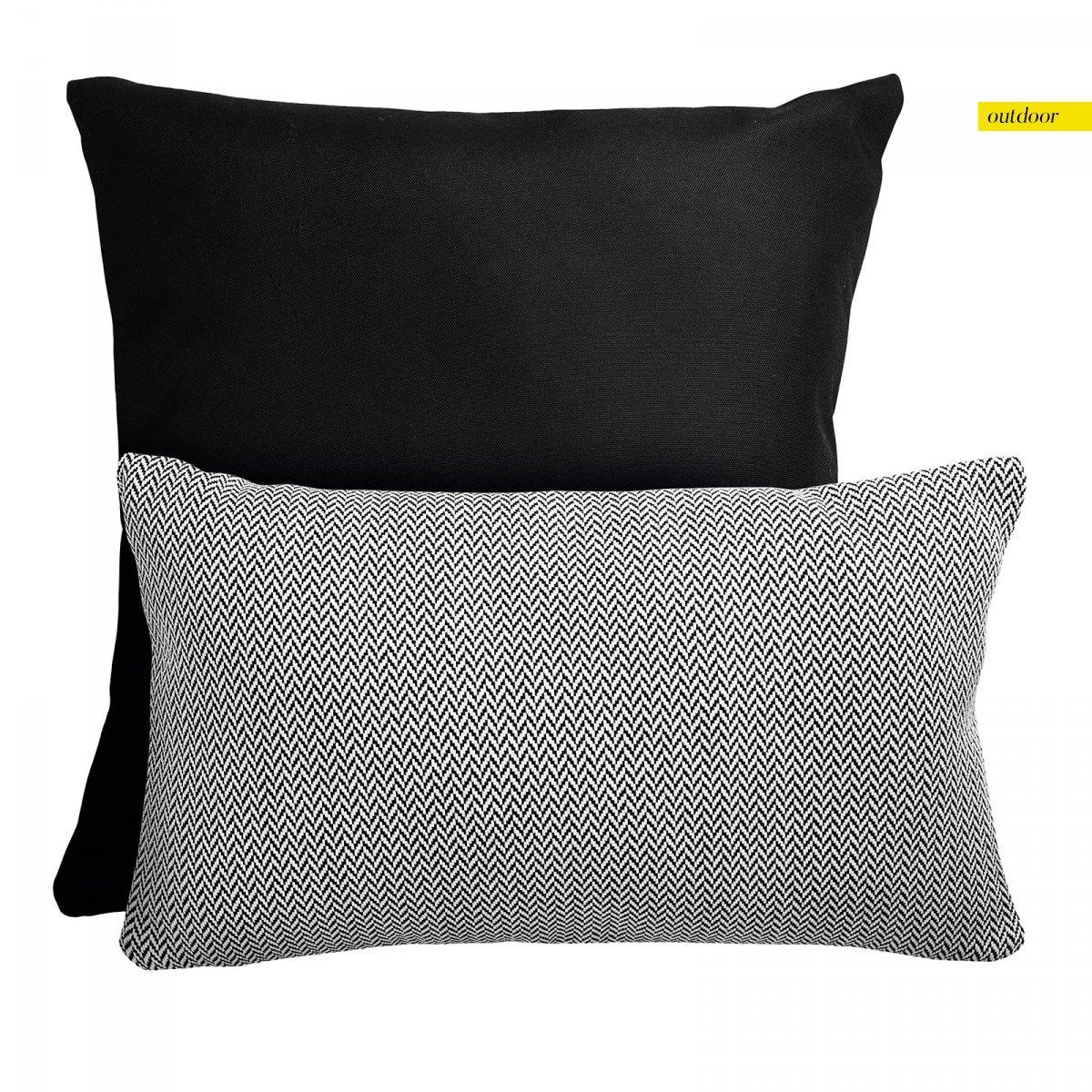 Czarny zestaw poduszek ogrodowych