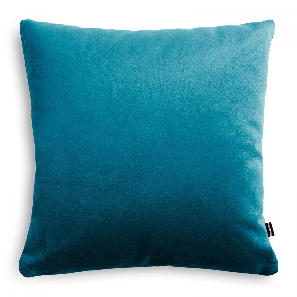 Velvet niebieska poduszka dekoracyjna 45x45