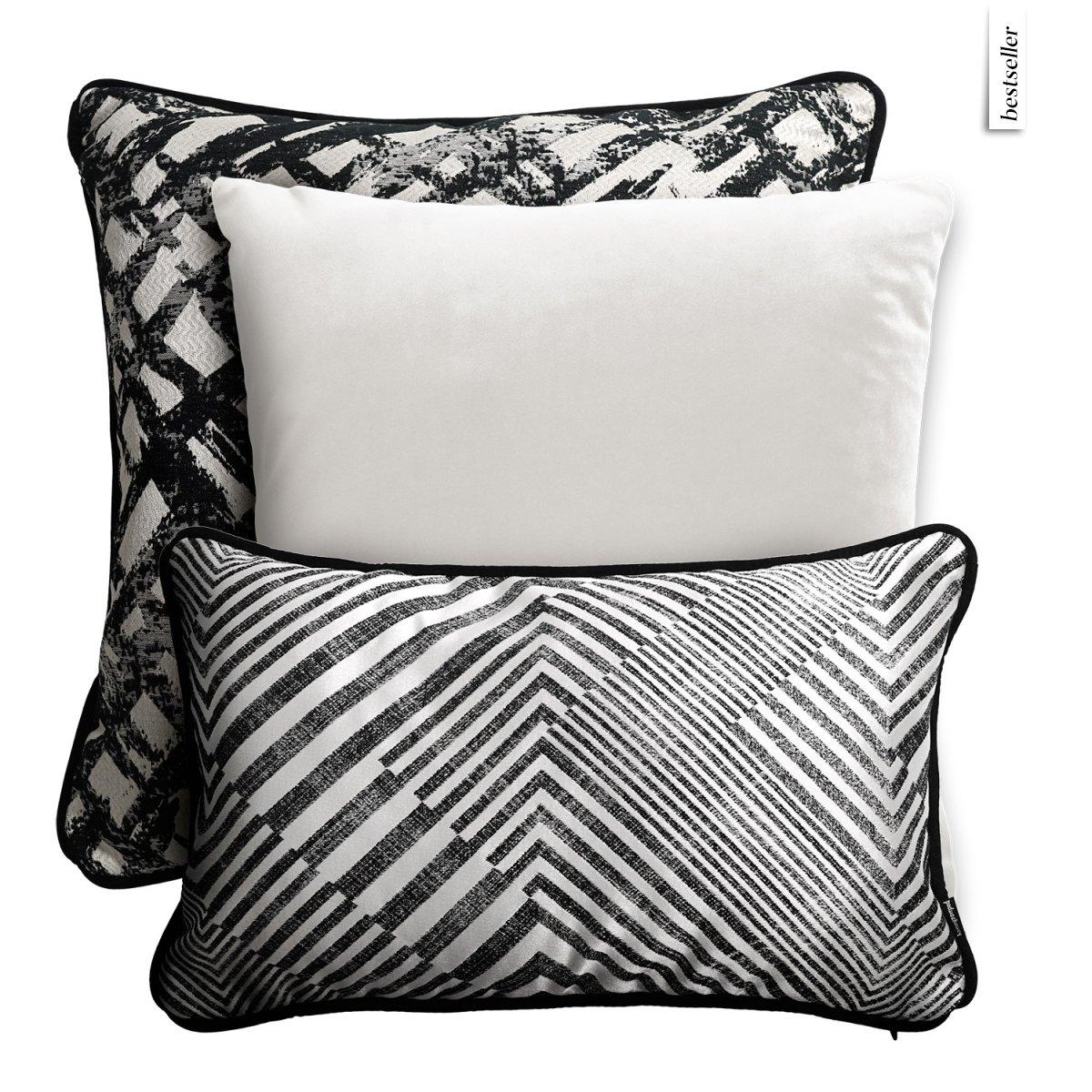 Perłowy zestaw poduszek dekoracyjnych Glam