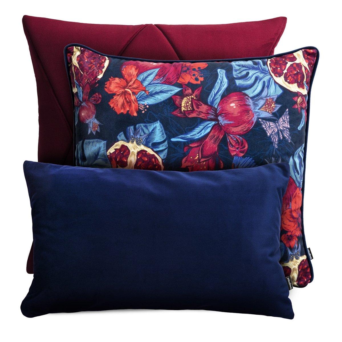 Bordowy zestaw poduszek dekoracyjnych Grenada