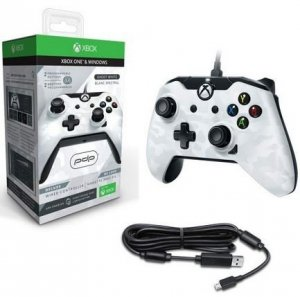 Pad Controller PDP Przewodowy GHOST WHITE BIAŁY CAMO DELUXE XBOX ONE WINDOWS