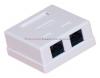 Gniazdo komputerowe LAN 2 x RJ45 kat.5e natynkowe białe