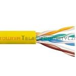 Kabel skrętka UTP linka, żółta