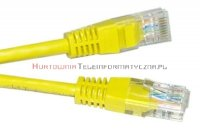 UTP Patch cord 0,5 m. Kat.5e żółty
