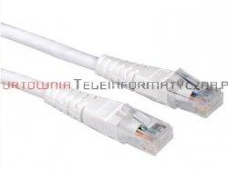 PREIMUM UTP Patch cord 1,0 m. Kat.6 biały