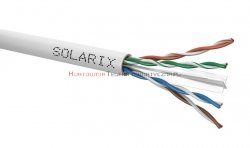 SOLARIX kabel U/UTP, drut, PVC, szary, kat.6