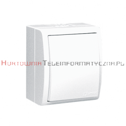 KONTAKT SIMON Aquarius Łącznik jednobiegunowy, biały, IP54