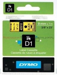 DYMO D1 Taśma 9mm/7m Czarno/Żółta