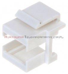 Adapter keystone pod moduły światłowodowe, biały