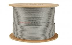 SOLARIX kabel F/UTP, drut, PVC, szary, kat.6 - 500m
