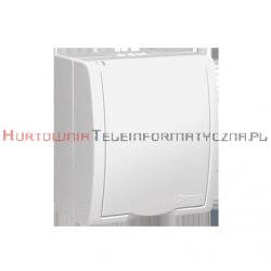 KONTAKT SIMON Aquarius gniazdo elektryczne natynkowe 1x230 IP54, klapka biała