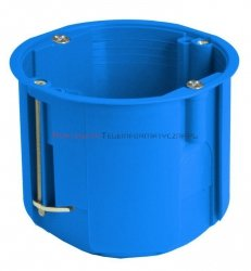 SIMET Puszka podtynkowa 1x60mm do regips głęboka niebieska PV60D