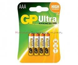 GP ULTRA Bateria alkaliczna 1,5V AAA LR03 (4 szt)