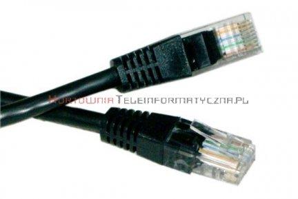 UTP Patch cord 1,0 m. Kat.6 czarny