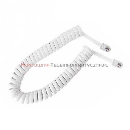 Kabel telefoniczny skrętny 2 m biały