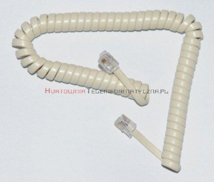 Kabel telefoniczny skrętny 7 m biały