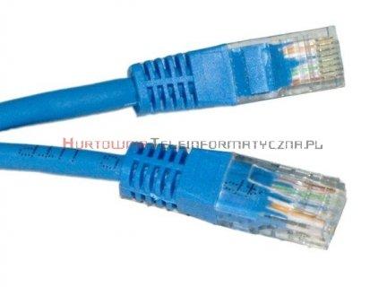 UTP Patch cord 10,0 m. Kat.5e niebieski