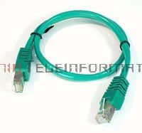 FTP Patch cord 1,0 m. Kat.5e zielony