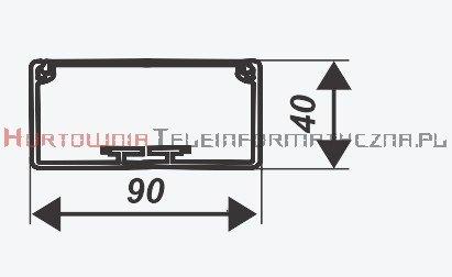EMITER kanał / koryto kablowe PCW KP 90x40 białe